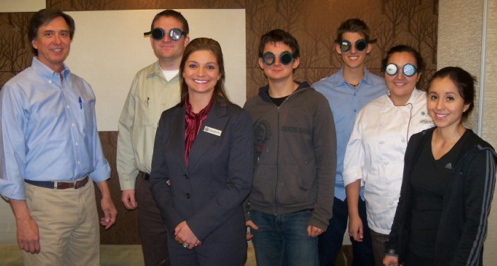 Workshop participants wearing LVSK goggles